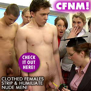 Check Out CFNM Clothed Female Nude Male